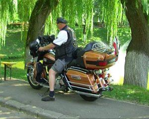 motociclist HD lac