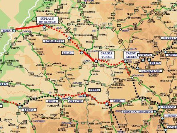 Harta Autostrada Transilvania Harta