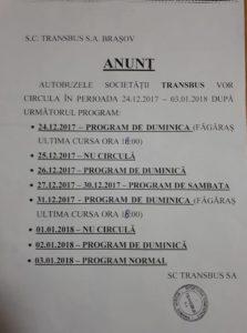 Autobuzele Codreanu vor circula de sărbători după un program special!