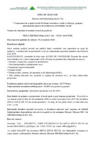 APEL DE SELECTIE M8